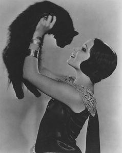 woman&cat 1920